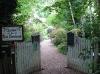 Entrée du jardin du Petit-Bordeaux dans la Sarthe