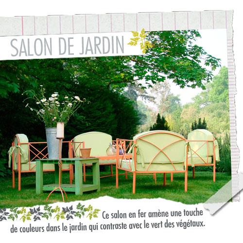 Un salon de jardin en fer