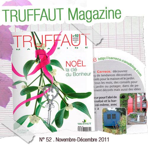 Un article sur le blog Carreco dans Truffaut magazine