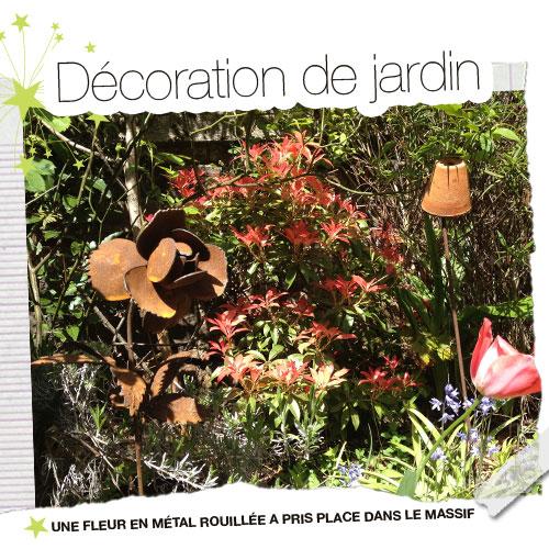 D co de jardin - Deco jardin fer rouille ...
