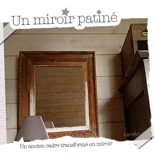 un cadre ancien transformé en miroir
