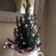En complément de la guirlande lumineuse et ses petites maisons ou encore les cloches en bois, il fallait bien installer un sapin de Noël. Contrairement aux années précédentes, le sapin...