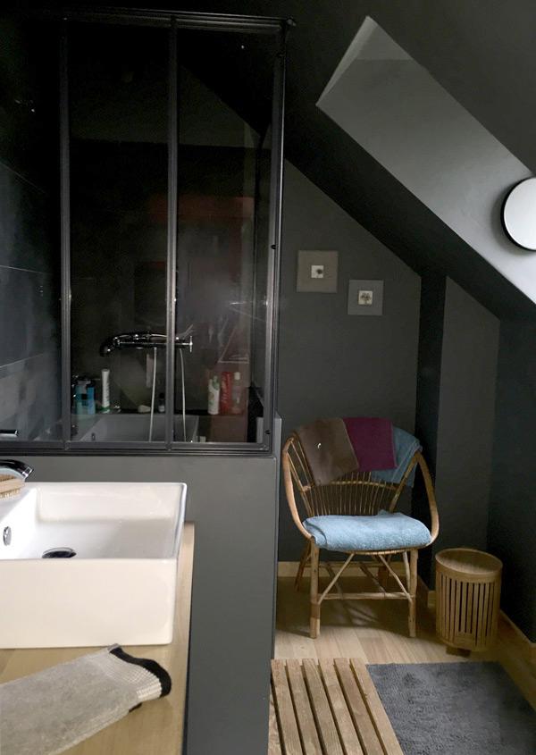 salle de bain style industriel chez Carreco