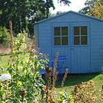 Une cabane de jardin