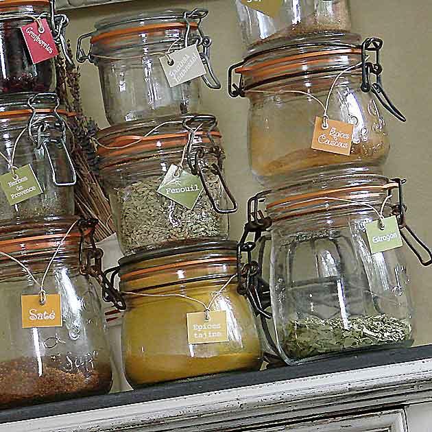 Des étiquettes à épices pour vos bocaux