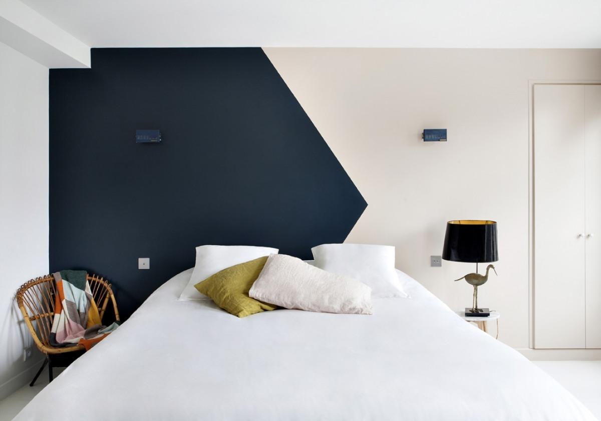 Tete De Lit Bleu Canard Peinture couleur et géométrie en décoration – les carnets de carreco