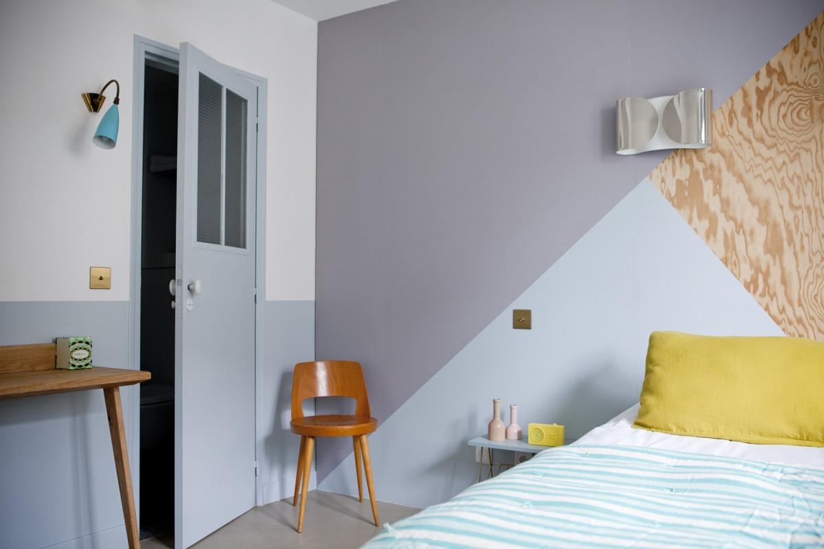 Peindre Triangle Sur Mur couleur et géométrie en décoration – les carnets de carreco