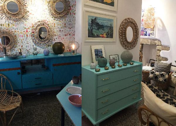 Décoration intérieure de la boutique Belle Lurette à Groix