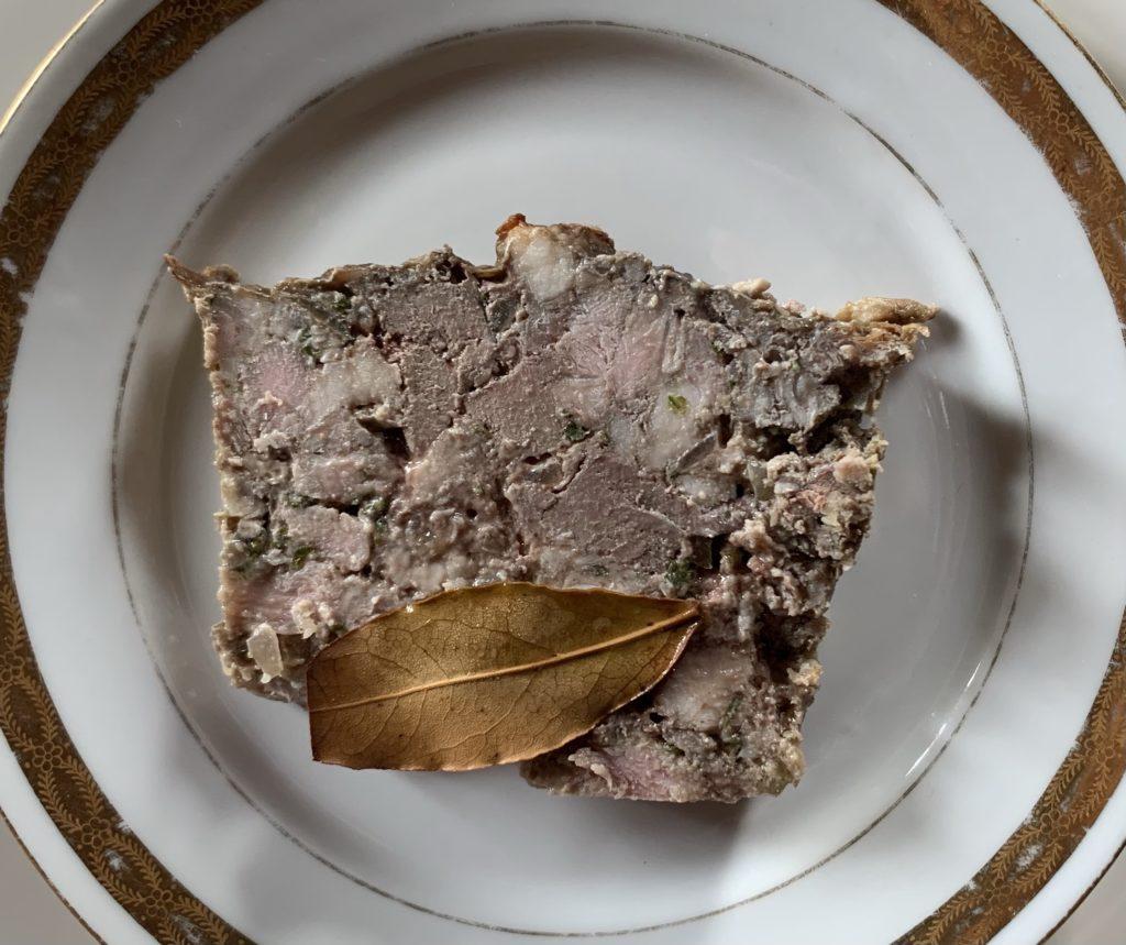 Tranche de pâté breton de la maison Vérot